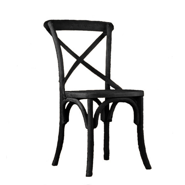 Black Bentwood Crossback Chair