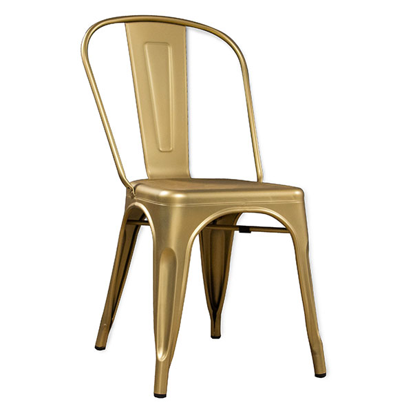 Metal Tolix Bistro Chair Gold