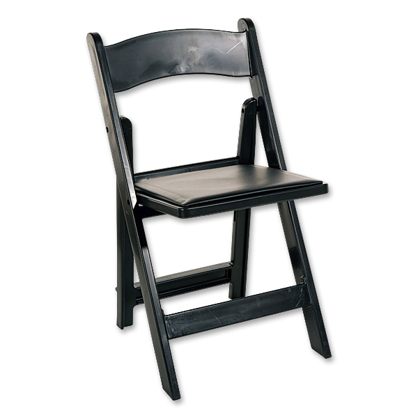 Folding Chair Wood Black Broadway Party Rentals