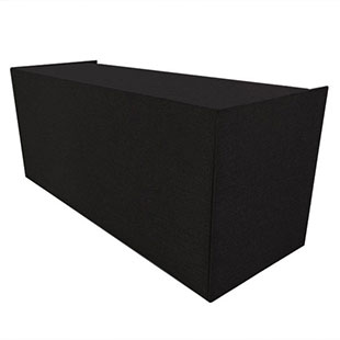 8' Rattan Black Bar Screen