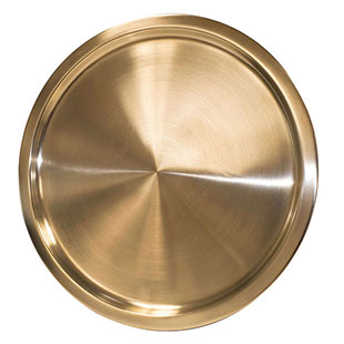 Brushed Gold Tray Round 14