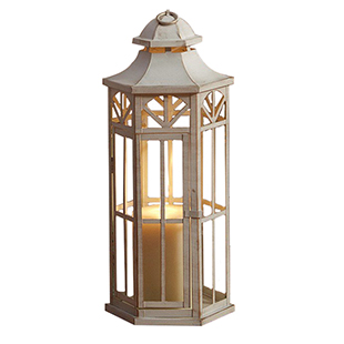 Antique White Lantern 20