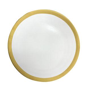 Aspen Matte Gold Rim Dinner Plate