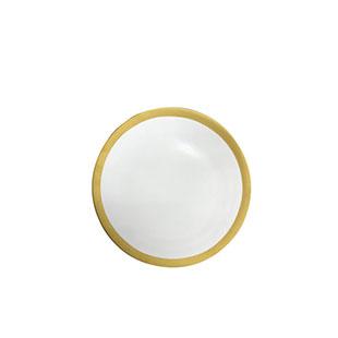 Aspen Matte Gold Rim B&B Plate