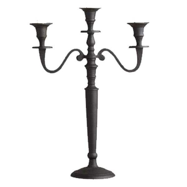 Black Iron 3 Branch Candelabra