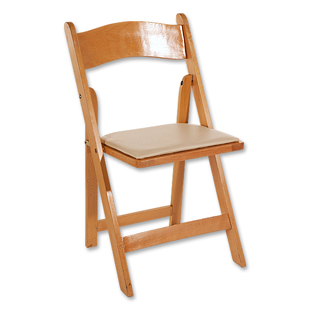 Folding Chair Wood Natural Broadway Party Rentals